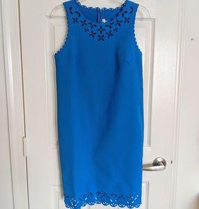 Cobalt blue sleeveless dress